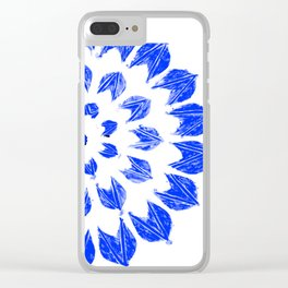 Pantone Blue Mandala Clear iPhone Case