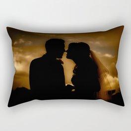 Silhouettes of Love Rectangular Pillow