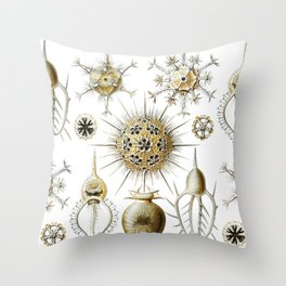 Ernst Haeckel - Phaeodaria Throw Pillow