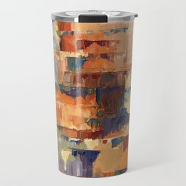Ardent August Abstract in Red Travel Mug