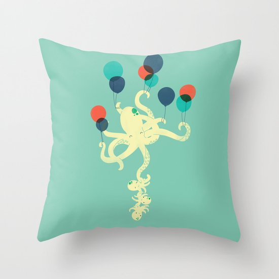 Up We Go Throw Pillow