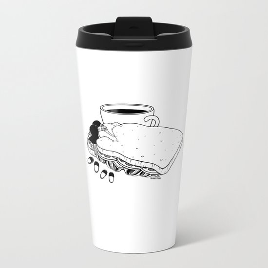Breakfast Included Metal Travel Mug