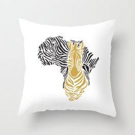 African Tribal Pattern No. 43 Throw Pillow