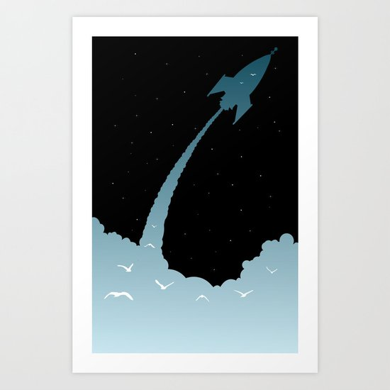 Up, Up, and Away Art Print