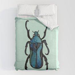 Blue Beetle- Teal Duvet Cover