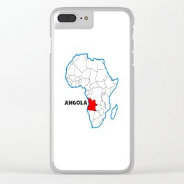 Angola Clear iPhone Case