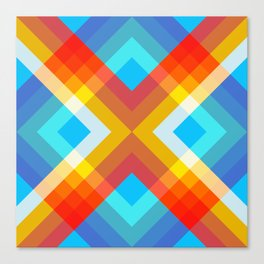 Abstract Retro Pattern 10 Canvas Print
