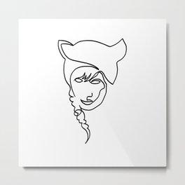 Catgirl Metal Print