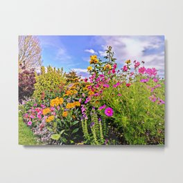 Cottage Garden Flowers Metal Print