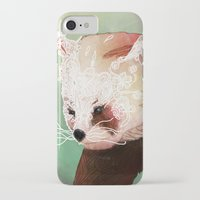 red panda iPhone & iPod Cases featuring Red Panda by Ben Geiger
