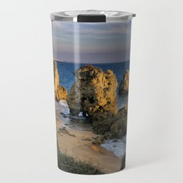A small cove in the evening, Albufeira, Portugal Travel Mug