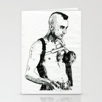 taxi driver Stationery Cards featuring Taxi Driver by Art & Ink