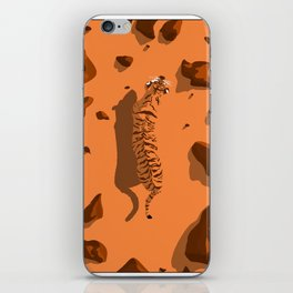 Tiger in the desert (global warming) iPhone Skin