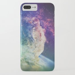 Astronaut dissolving through space iPhone Case