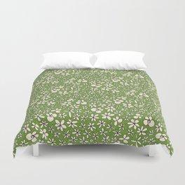 garland flowers green Duvet Cover