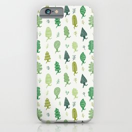 Run Forest Run Pattern iPhone Case
