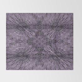 Mandala Motion Purple Throw Blanket