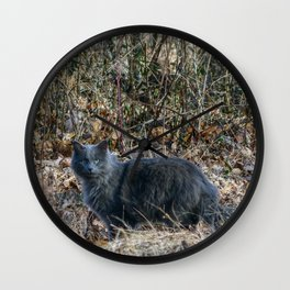 Cat in the Woods Wall Clock