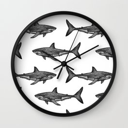 Carcharodon carcharias 2.0 Wall Clock
