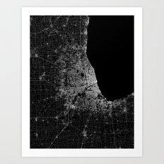 Chicago map Art Print