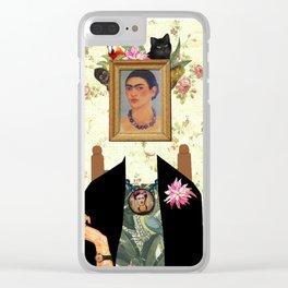 Frida kahlo portrait Clear iPhone Case