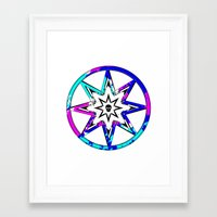 death star Framed Art Prints featuring Death Star by Sabrina