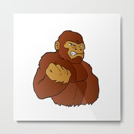 cartoon gorilla Metal Print