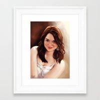 emma stone Framed Art Prints featuring Emma Stone by Chanuka Hemachandra