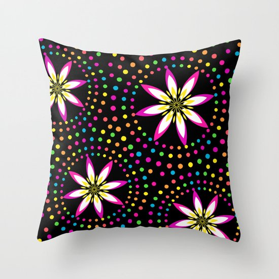Floral Colorful Circles Throw Pillow by Looly Elzayat Society6