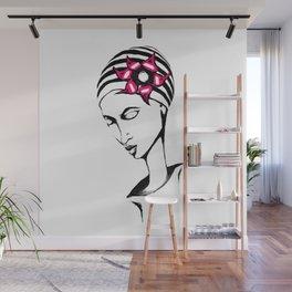 Summer Girl Wall Mural