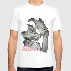 Pullin the Wolf Over My Eyes White MEDIUM Mens Fitted Tee