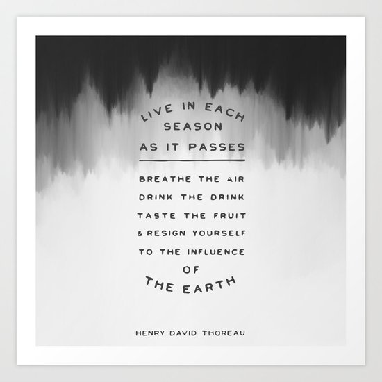 Live in each season Art Print