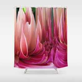 439 - Abstract Dahlia Design Shower Curtain