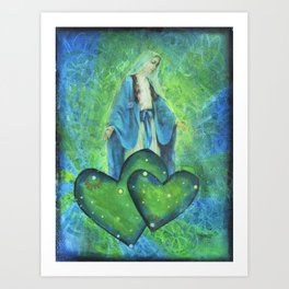 Mother Mary Mixed Media Art Print