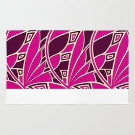 Modern art nouveau tessellations cerise and amber Rug