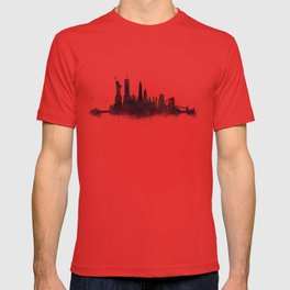 NY New York City Skyline NYC Watercolor art T-shirt