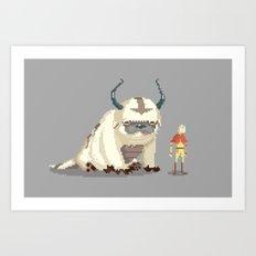 Pixel Avatar Art Print