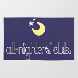 all-nighters' club Rug