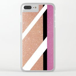 Full of Glitter (Pink) Clear iPhone Case