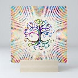 Watercolor Tree of life Mini Art Print