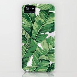 Tropical banana leaves VI iPhone Case