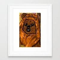ewok Framed Art Prints featuring Ewok by Art of Fernie