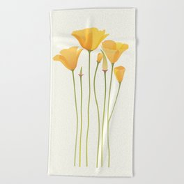 Sunkissed Poppies Beach Towel