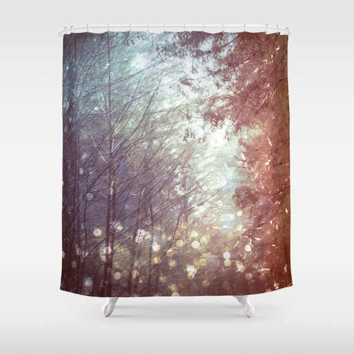 Magical Firefly Forest Shower Curtain By Cascadia