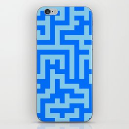 Baby Blue and Brandeis Blue Labyrinth iPhone Skin