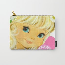 Valentine Girl with Flowers Carry-All Pouch