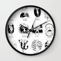 astrology Wall Clocks featuring Natural Astrology by Coily and Cute