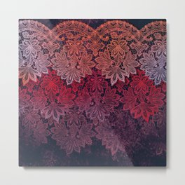 lace garland on black Metal Print