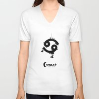 cancer V-neck T-shirts featuring Cancer by Make-Ready