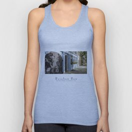 Charleston SC No. 4  Rainbow Row Unisex Tank Top